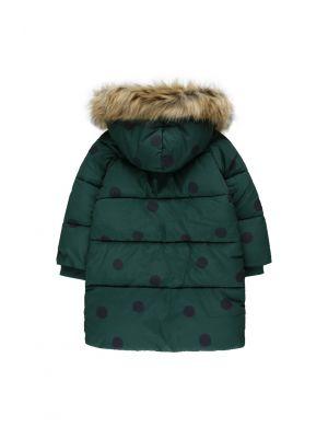 Tiny Cottons Big Dots Padded Jacket Dark Green/Black