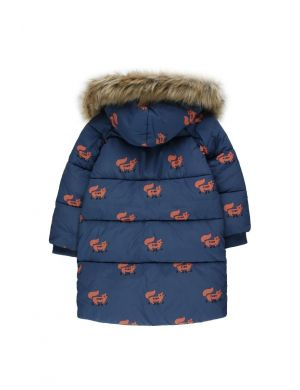 Tiny Cottons Foxes Padded Jacket Light Navy/Sienna