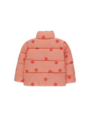 Tiny Cottons Big Dots Padded Jacket Peachy Red/Red
