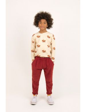 Tiny Cottons Foxes Tee Creme/Brown