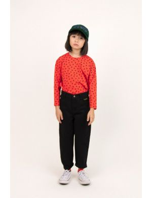 Tiny Cottons Tiny Flowers Tee Red/Navy