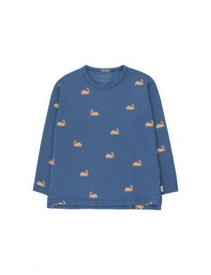 Tiny Cottons Swans Tee Soft Blue/Toffee