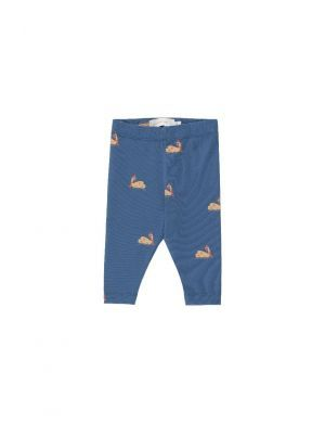 Tiny Cottons Swans Baby Pant Soft Blue/Toffee