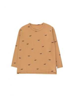 Tiny Cottons Ants Longsleeve Tee Clay/Ink Blue