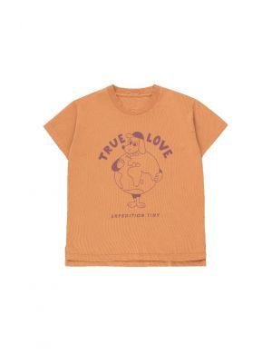Tiny Cottons True Love SS Tee Dog Clay/Deep Plum