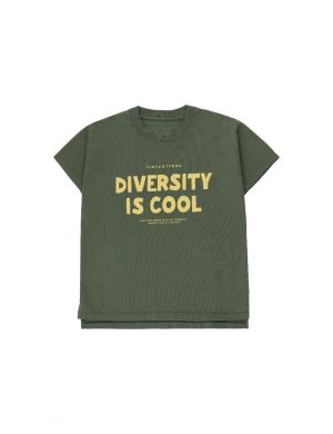 Tiny Cottons Diversity Is Cool SS Tee Dark Green/Yellow