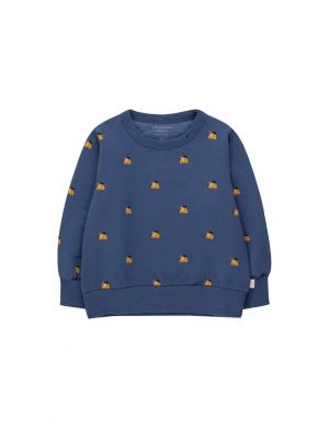 Tiny Cottons Dogs Sweatshirt Soft Blue/Honey