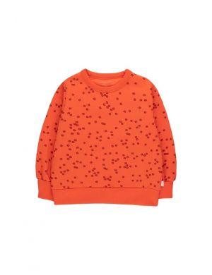 Tiny Cottons Daisies Sweatshirt Red/Deep Burgundy