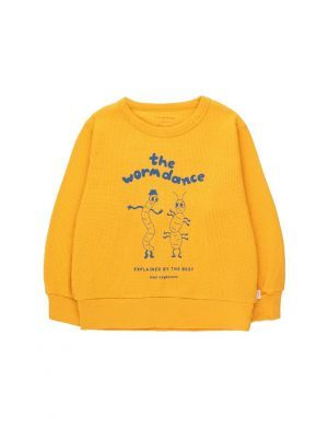 Tiny Cottons Worm Dance Sweatshirt Bamboo Yellow/Ultramarine