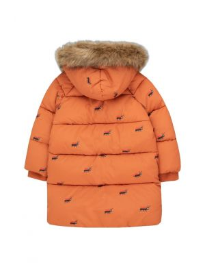 Tiny Cottons Ants Padded Jacket True Brown/Ink Blue