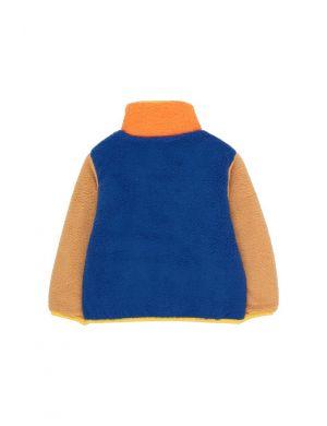 Tiny Cottons Color Block Polar Jacket Ultramarine/Clay