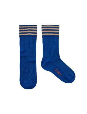 Tiny Cottons Stripes Medium Socks Ultramarine/Toffee