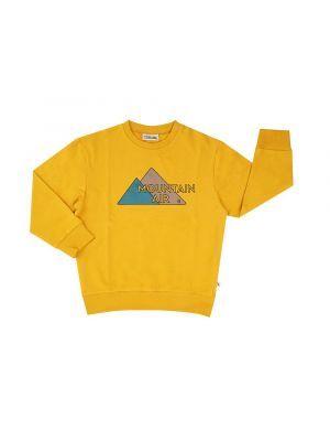 CarlijnQ Sweater with Print Mountain Air Yellow
