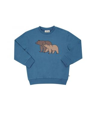 CarlijnQ Sweater with Print Grizzly Blue