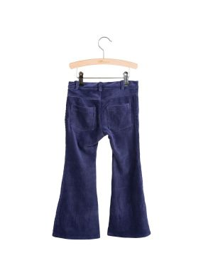 Little Hedonist 4-Pocket Flared Pants Bay Night Blue