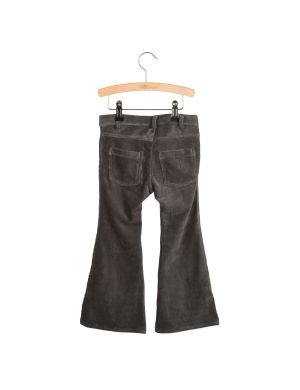 Little Hedonist 4-Pocket Flared Pants Bay Pirate Black