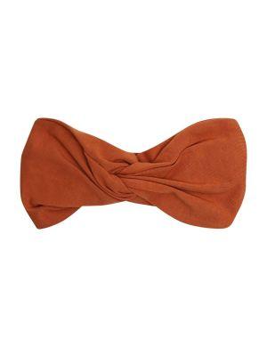 CarlijnQ Twisted Headband Brown