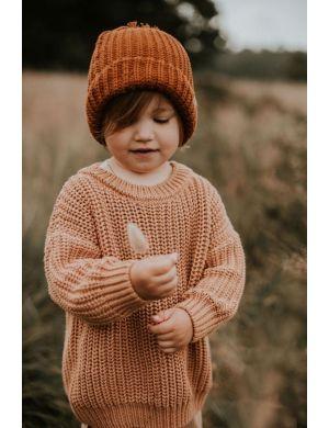 Yuki Kidswear Chunky Knitted Sweater Coral