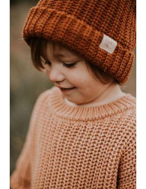 Yuki Kidswear Beanie Rust