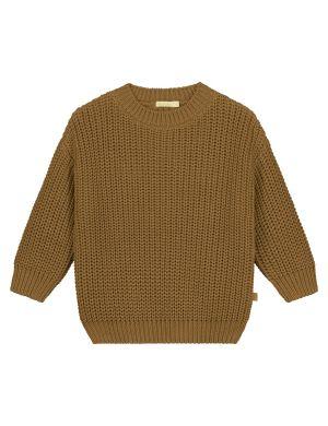 Yuki Kidswear Chunky Knitted Sweater Gold