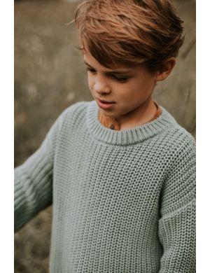 Yuki Kidswear Chunky Knitted Sweater Ocean