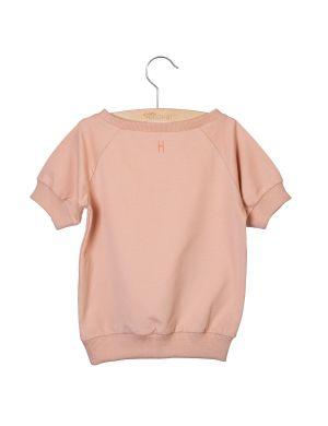 Little Hedonist Short Sleeved Sweater Ciska Cameo Rose