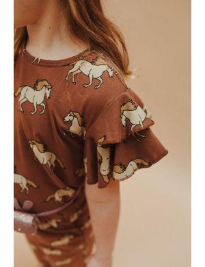 CarlijnQ Ruffled T-shirt Wild Horse