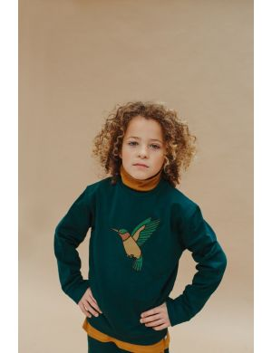 CarlijnQ Sweater with Print Hummingbird