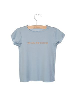 Little Hedonist t-shirt Dean Print Blue Fog