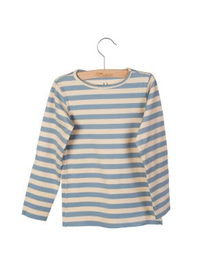 Little Hedonist Longsleeve Blue Fog - Bleached Sand Striped