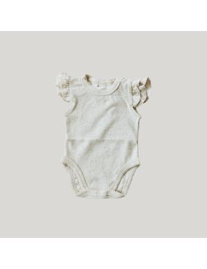 Susukoshi - Organic Flutter Romper Cotton Speckled