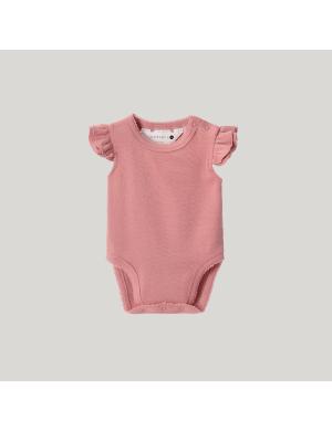 Susukoshi - Organic Flutter Romper SS Pink Clay