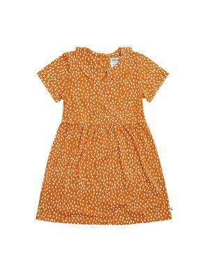 CarlijnQ Collar Dress Short Sleeves Golden Sparkles