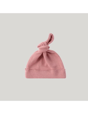 Susukoshi - Organic Knotted Hat Pink Clay