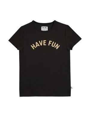 CarlijnQ T-shirt Have Fun Black