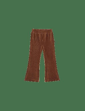 House of Jamie Flared Pants Ginger Bread Rib Velvet