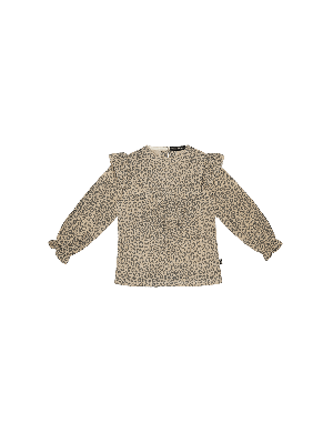 House of Jamie Frill Tunic Charcoal Little Leopard