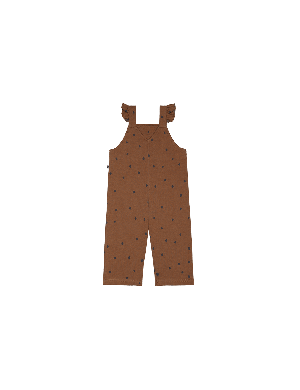 House of Jamie Girls Dungaree Ginger Bread Dots
