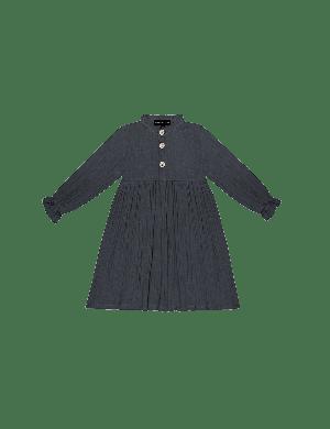 House of Jamie High Waist Dress Vintage Blue