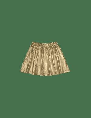 House of Jamie Metallic Skirt Gold Metallic