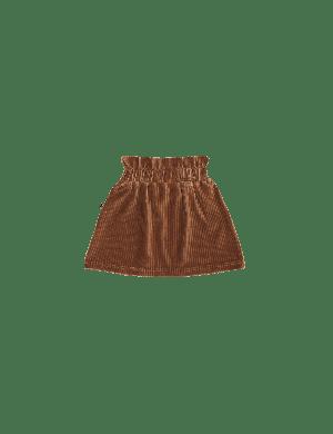 House of Jamie Paperbag Skirt Ginger Bread Rib Velvet