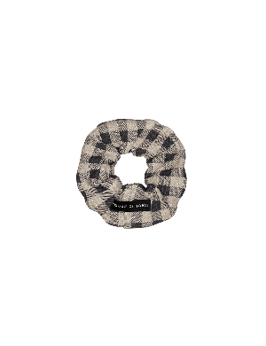 House of Jamie Scrunchie Charcoal Vichy