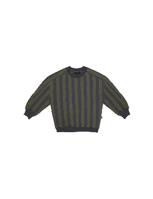 House of Jamie Sweatshirt Moss & Blue Stripes