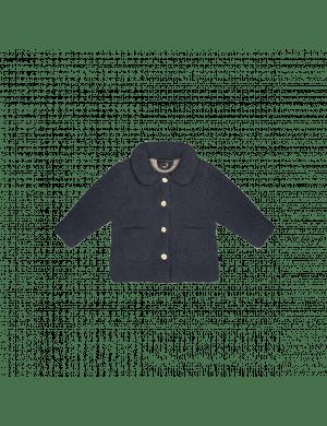 House of Jamie Teddie Collar Coat Vintage Blue