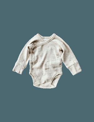 Susukoshi - Organic Kimono Bodysuit LS Cotton Speckled