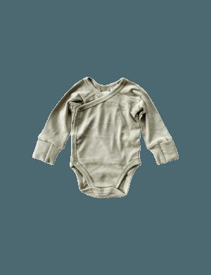 Susukoshi - Organic Kimono Bodysuit LS Elm