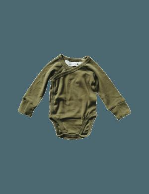 Susukoshi - Organic Kimono Bodysuit LS Leaf