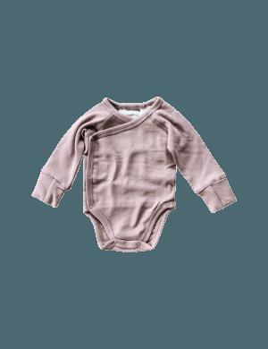 Susukoshi - Organic Kimono Bodysuit LS Mauve