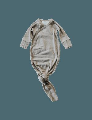 Susukoshi - Organic Kimono Gown Mushroom Speckled