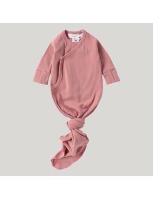 Susukoshi - Organic Kimono Gown Pink Clay